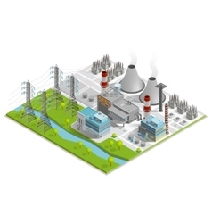 Of Thermal Power Station vector image