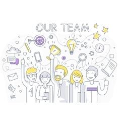 Our Success Team Linear Design vector image