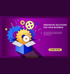 outside the box innovation concept gorisontal vector image