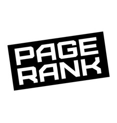 Page rank typographic sign vector