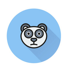 panda icon on round background vector image