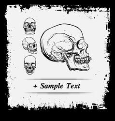 Paper art Human Skulls vector