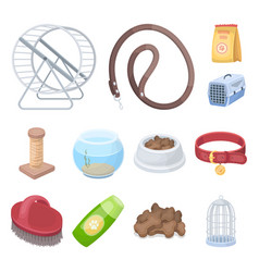 pet shop cartoon icons in set collection for vector image