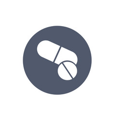 pills icon in trendy flat style in circle pills vector image