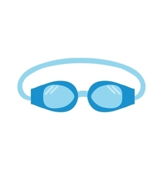 Pool goggles swimming equipment isolated vector