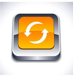 Refresh 3d button vector