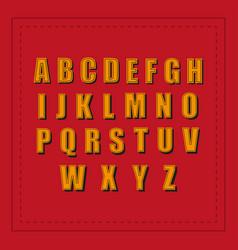 retro alphabet font vintage retro fonts alphabet vector image