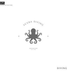 Scuba diving logo vector