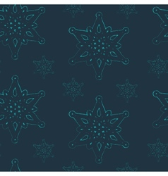 seamless background with graceful snowflakes vector image