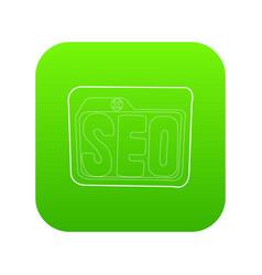 Seo icon green vector