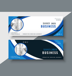 Set of two professional corporate business vector