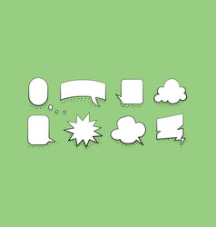 set speech bubble design template vector image
