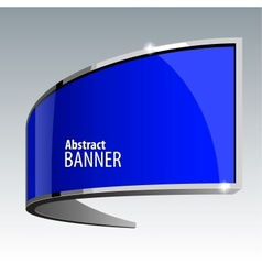 Shiny gloss blue banner eps 10 vector image