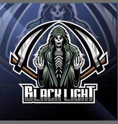 skull reaper logo mascot design vector image