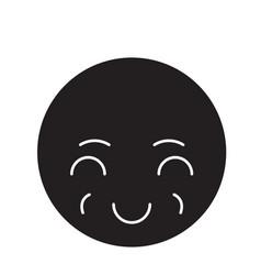 Sly emoji black concept icon sly emoji vector