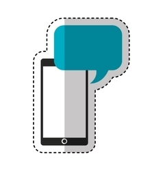 Smartphone technology with speech bubble vector