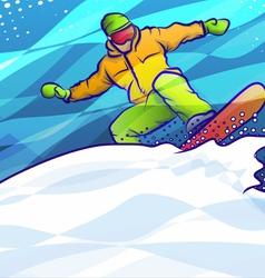 Snowboard Jump vector image