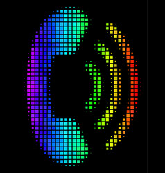 Spectrum dot phone ring icon vector