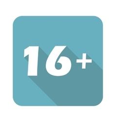 Square 16 plus icon vector