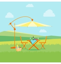 Summer Picnic in Nature Flat vector