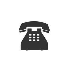 telephone icon isolated landline phone flat vector image