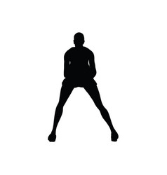 tennis silhouette vector image