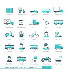 Transport Set 02 vector image vector image