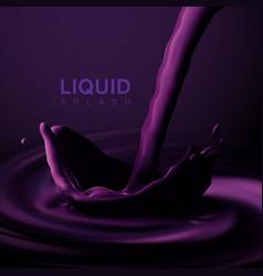violet liquid crown splash vector image