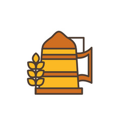 wheat drink oktoberfest icon line filled vector image