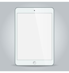 White business tablet in iPad mini or air style vector image