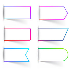 white paper labels templates with colorful frame vector image