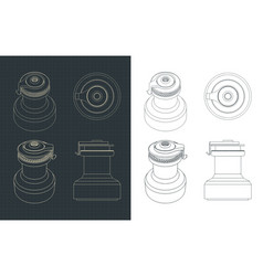 Yacht winch drawing vector