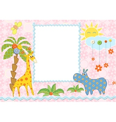 Baby frame or card vector image