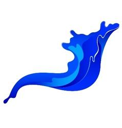 Blue ink spalsh vector image