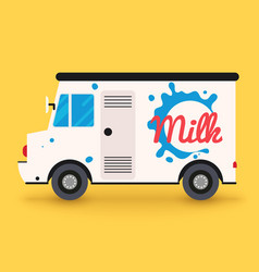 Dairy milk delivery service local delivery vector