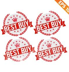 Rubber stamp best buy - - EPS10 vector image