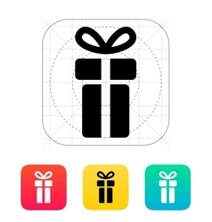 Small gift box icons on white background vector image