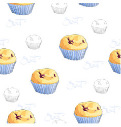 sweet cupcake vector image vector image