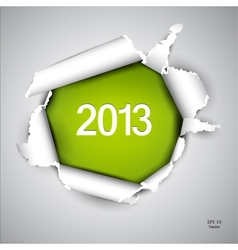 Torn paper with space for text 2013 vector image vector image