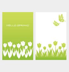 A set of two springtime vector