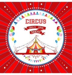 Circus card vector image