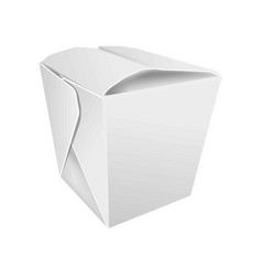 closed asian food box vector image vector image
