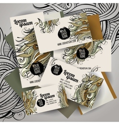 corporate Identity set with art vector image