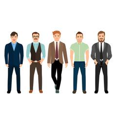 handsome men in business formal style vector image