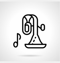 Orchestra instrument simple line icon vector