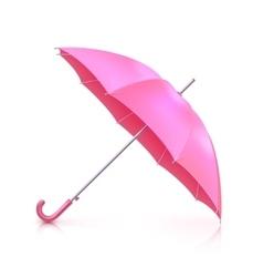 Pink realistic umbrella vector