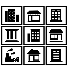 set modern urban building vector image vector image