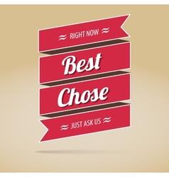 Best chose poster vector