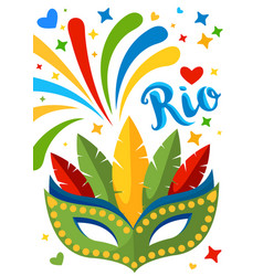 brazil carnival background for placard poster vector image vector image