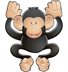 chimpanzee illustration vector image vector image